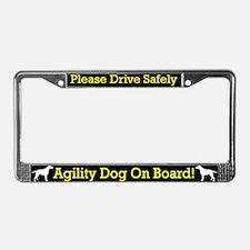 Curly Coat Retrvr Agility Dog License Plate Frame