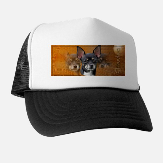 Chihuahua Crescent Moon Trucker Hat