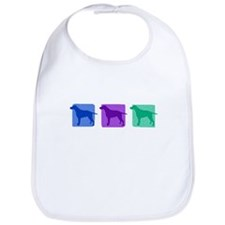 Color Row Curly Coated Bib
