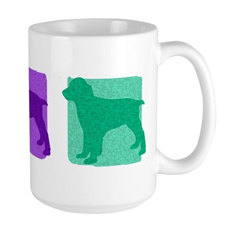 Color Row English Springer Large Mug