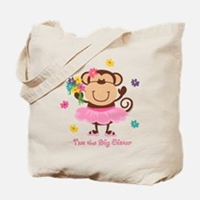 Monkey Big Sister Tote Bag