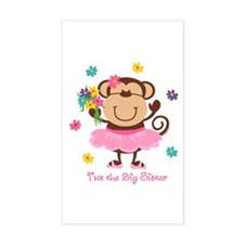 Monkey Big Sister Rectangle Decal