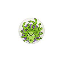 Gorgon or Gothic Medusa Mini Button