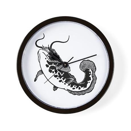 Black Catfish Wall Clock