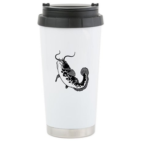 Black Catfish Stainless Steel Travel Mug