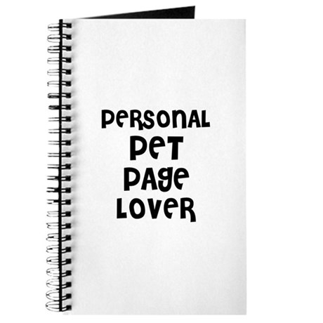 PERSONAL PET PAGE LOVER Journal
