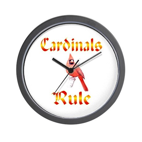 Cardinals Rule Wall Clock