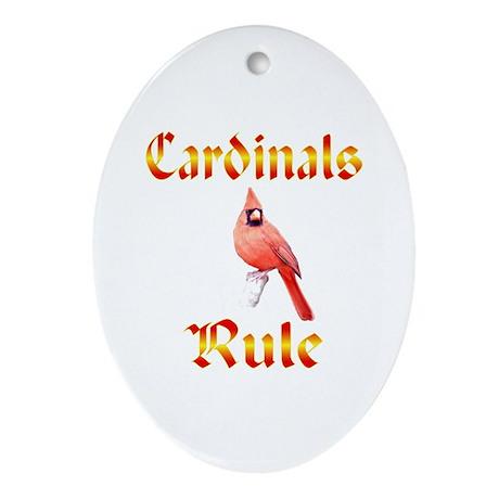 Cardinals Rule Oval Ornament