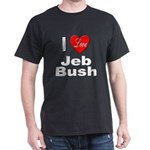 I Love Jeb Bush (Front) Black T-Shirt