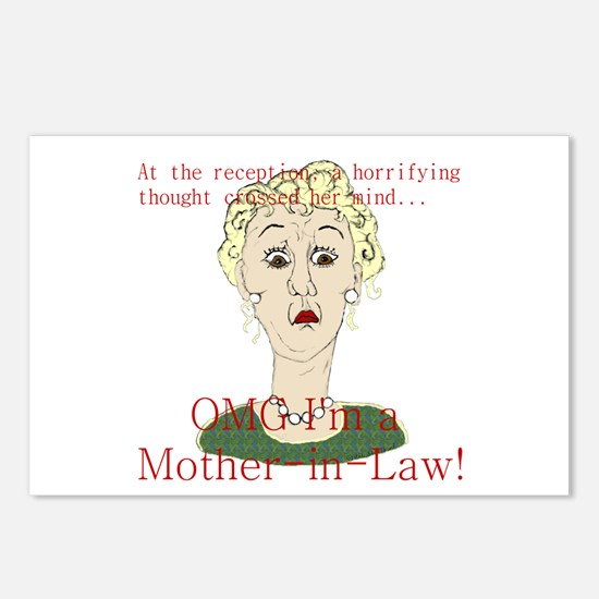 OMG I'm a Mother In Law Postcards (Package of 8)