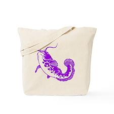 Purple Catfish Tote Bag