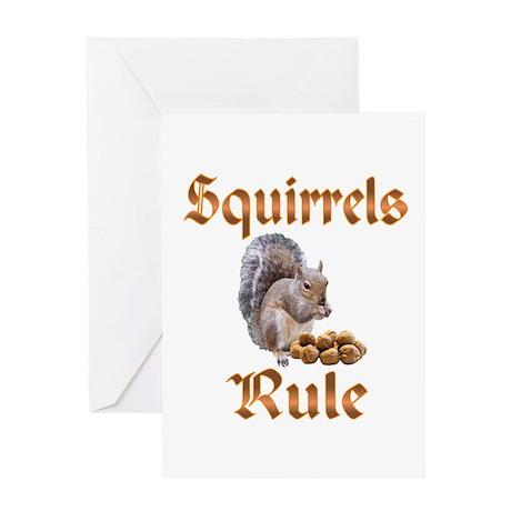 Squirrels Rule Greeting Card