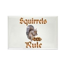 Squirrels Rule Rectangle Magnet