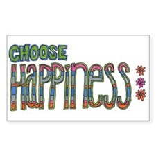 Choose Happiness Rectangle Sticker 10 pk)