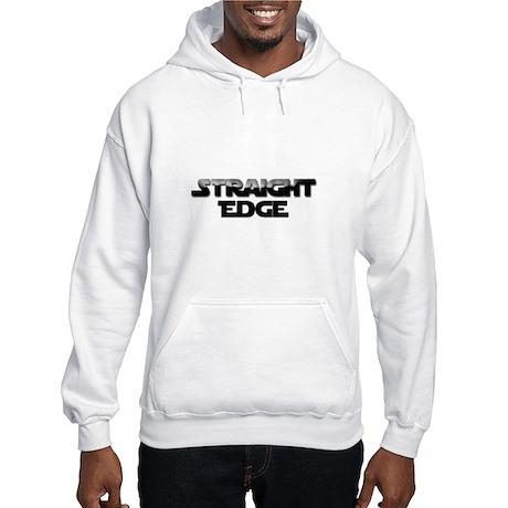 Straight Edge Clean Font Hooded Sweatshirt