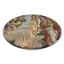 The Birth of Venus Oval Decal