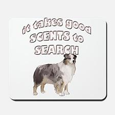 Aussie Search dog Mousepad