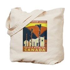 Read About Canada Vintage WPA Art Tote Bag