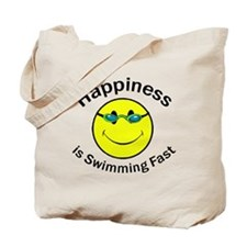 Happiness is Swimming Fast Tote Bag