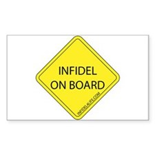 Infidel On Board Decal