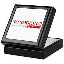 No Smoking Steam Engine Sign Keepsake Box