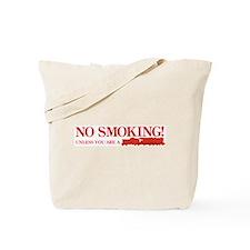 No Smoking Steam Engine Sign Tote Bag