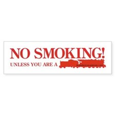 No Smoking Steam Engine Sign Bumper Bumper Sticker
