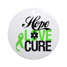 Lymphoma HOPE LOVE CURE Ornament (Round)