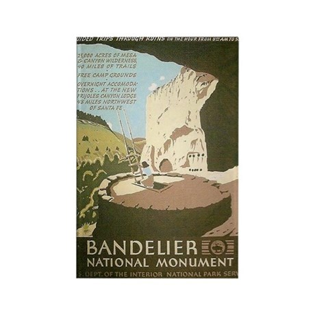 Bandelier National Monument WPA Rectangle Magnet