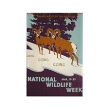National Wildlife Week WPA Art Rectangle Magnet