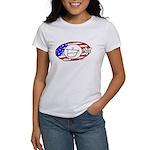 Patriotic Peace Happy Face Women's T-Shirt