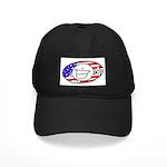Patriotic Peace Happy Face Black Cap