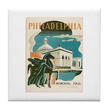 Philadelphia Memorial Hall WPA Art Tile Coaster