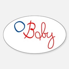 O Baby Oval Decal