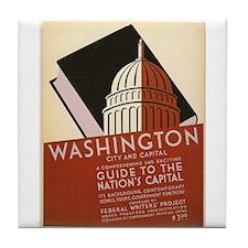 Washington DC Capital WPA Art Tile Coaster