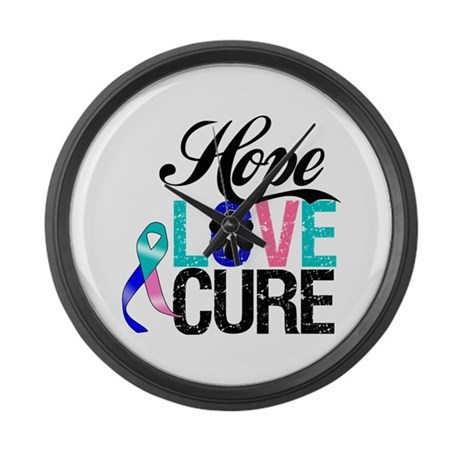Thyroid Cancer HOPE CURE Large Wall Clock