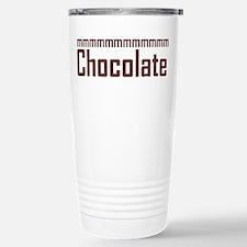 mmm, Chocolate Stainless Steel Travel Mug