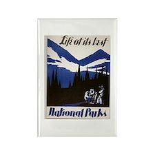 National Parks Vintage WPA Art Rectangle Magnet