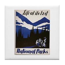 National Parks Vintage WPA Art Tile Coaster