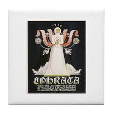 Ephrata Lancaster County PA WPA Art Tile Coaster