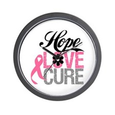 Breast Cancer HOPE CURE Wall Clock
