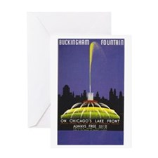 Chicago Buckingham Fountain Greeting Card