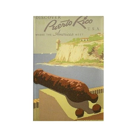 Puerto Rico Vintage Travel WPA Rectangle Magnet