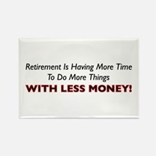 Retirement Is Less Money Rectangle Magnet