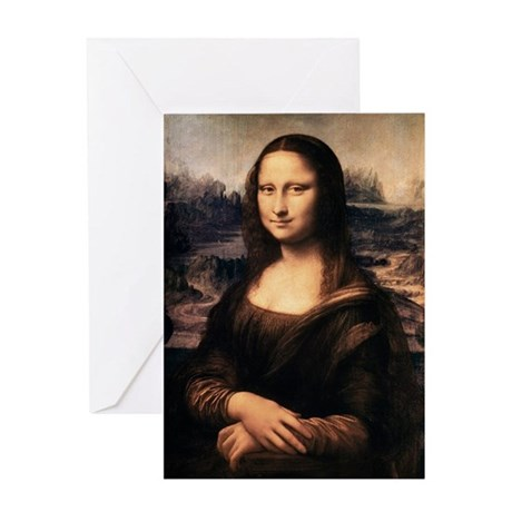 The Mona Lisa Greeting Card