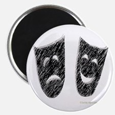 "Comedy & Tragedy 2.25"" Magnet (10 pack)"