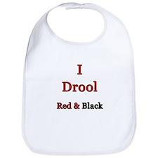 I Drool Black & Red Bib