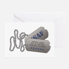 Aunt Dog Tags Greeting Cards (Pk of 10)