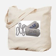 Aunt Dog Tags Tote Bag