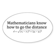 Mathematicians know how to go the distance Decal